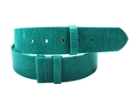 "1.5"" width adjustable leather strap belt in lizard print"