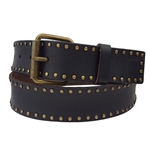 Nail Heads Leather Belt