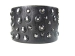 Oil Tanned Genuine Vintage Leather Multi Studded WristBand