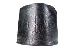 Peace Mark Fashion Leather WristBand