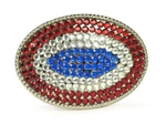 Oval Rhinestone belt buckle