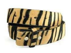 Snap On Zebra Print Belt Strap