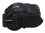 "2"" (50 mm) Genuine Leather Braided Woven with ""D"" ring buckle, flexible sizes."