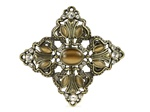 Rhombic Buckle with Rhinestones