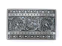 Floral Rectangular Belt Buckle