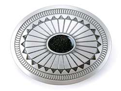 Oval Black Stone Fashion Belt Buckle