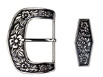 Hawaiian style flower two pieces belt buckle