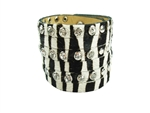 Lady leather hair on calf animal printed wristband