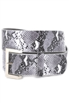 Trendy High Waist  Belt In Vegan Leopard & Snake Print With Buckle.