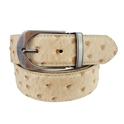 "1.25"" Men's Reverse Belt in Ostrich / Plain Leather"