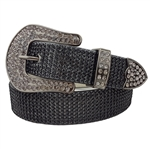 1 1/2'' Western belt with rhinestone all over strap and Rhinestone on Belt Buckle.