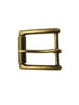antique brass square shape buckle with roller