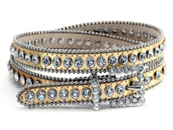 Ladies Rhinestone Thin Belt