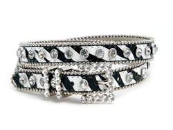 Zebra/ Leopard 20mm Ladies Rhinestone Thin Belt
