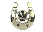 Rock Rebel Horseshoe and Crossbone Belt Buckle