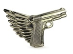 Rock Rebel Winged Gun Belt Buckle