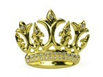 Rock Rebel Iced Gold Crown Belt Buckle