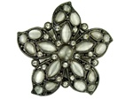 Rhinestone Cateye Flower Belt Buckle