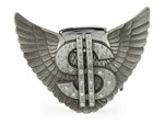 Winged Rhinestone Dollar Sign Eagle Lighter Buckle