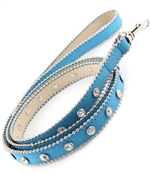 Crystallized leather dog leash