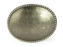 Plain Brass Oval Belt Buckle