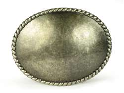 Big Oval Plain Belt Buckle