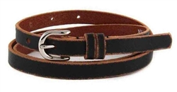 "1/2"" Genuine Distress Leather in skinny double Loops."