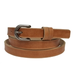 Distress Vegan  in skinny double Loops Belt.