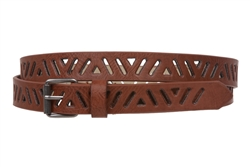 3/4 Inch Perforated Skinny Belt