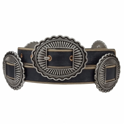 Western Buckle and conchos in Vintage Look