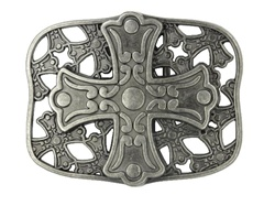 Retangular Metal Cross Buckle