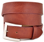 Plain belt with Stitching Detail on the Edged and Square Shinny Silver buckle.