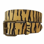 Non-Animal, Vegan Animal Print Fur Belt