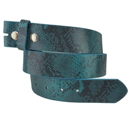 1.5¡± wide  snap on python print genuine leather belt