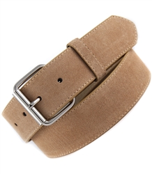 Snap On Suede Leather Belt Strap