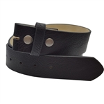 "1.5""  leatherette belt strap with snap"