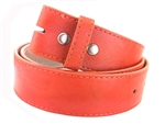 1 1/2'' Snap on Vermont Leather Belt  tone-on-tone stitching