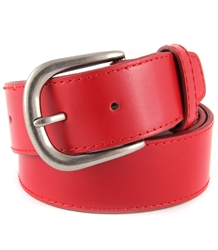 Genuine Italian leather belt with antique silver buckle in many color available