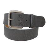 1 3/4'' Pebble Leatherette and Leather lining with Antic Silver Buckle.