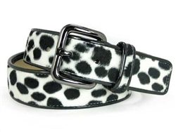 Ladies Patent Leather Animal Fur Fashion Belts