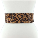 Ladies High Waist Hair on Calf Animal Fur Print Belts