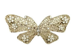 Rhinestone Butterfly Belt Buckle