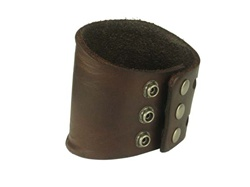 3 Inches Wide Oil Tanned Genuine Leather Wrist Band