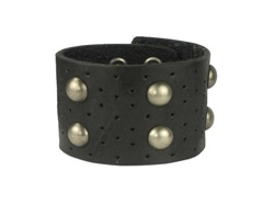 Leather studded wrist band