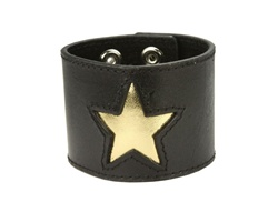 Stitching edged star fashion wrist band
