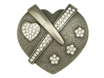 Heart and Flowers buckle