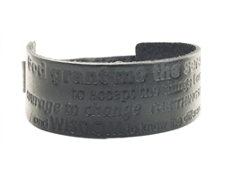 Galaxy Design bible Verse genuine leather wrist cuff