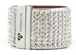 AXESORIA ALL ALL OVER Crystal cuff with Magnetic closure
