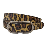 Vegan Leathrette Animal Print With Double C-Shape Buckle.