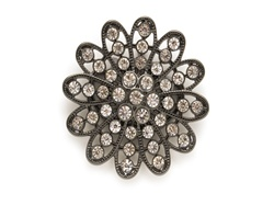 Rhinestone Flower Belt Buckle
